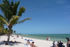 Floride, USA, Key West, Smathers beach, longue et belle plage au sable blanc