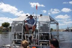 Floride, USA, Everglades, airboat aéroglisseur