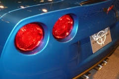 Floride, USA, Orlando, supercar Corvette bleue