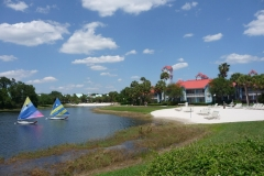 Floride, USA, Orlando, parc Disney, lac