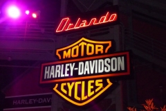 Floride, USA, Orlando, parc Disney, Harley Davidson enseigne
