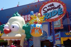 Floride, USA, Orlando, Universal Studios, simulateur de vol The Simpsons