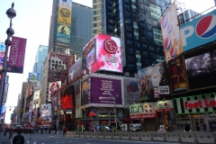 New York City, USA, Broadway, Manhattan, Time Square, enseignes lumineuses