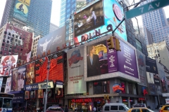 New York City, USA, Broadway, Time Square, enseignes lumineuses