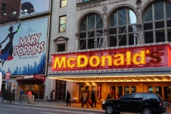 New York City, USA, Broadway, Manhattan, Time Square, Mc Donald's