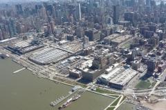 New York City, USA, Manhattan sud, survol de l'Hudson river