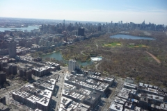 New York City, USA, survol de Harlem et Central Park
