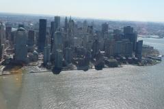 New York City, USA, survol de Manhattan sud, Hudson river