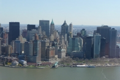 New York City, USA, survol de Manhattan sud, Hudson river