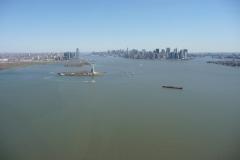 New York City, USA, statue de la liberté et Manhattan sud, Hudson river