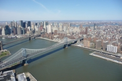 New York City, USA, Manhattan sud, Hudson river et pont de Brooklyn