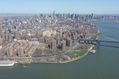 New York City, USA, Manhattan sud, Hudson river et pont de Brooklyn