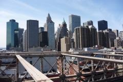 New York City, USA, Manhattan sud vu du pont de Brooklyn