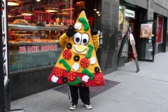 New York City, USA, Manhattan, rabatteur pizza