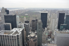 New York City, USA, Manhattan, Rockefeller Plaza, vue sur Central Park