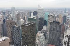 New York City, USA, Manhattan, Rockefeller Plaza, vue aérienne