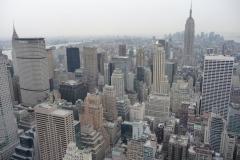 New York City, USA, Manhattan, Rockefeller Plaza, vue sur l'Empire State Building