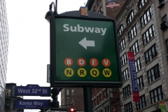 New York City, USA, Manhattan, panneau Subway / Métro NYC