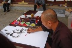 Vietnam, artiste caligraphiste