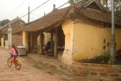 Vietnam, ancien toit de maison typique