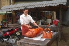 Vietnam, cochon grillé
