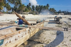 Zanzibar - Jambiani entretien des pirogues