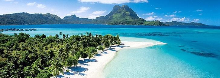 Plage de Bora Bora en Polynésie Francaise, Pacifique