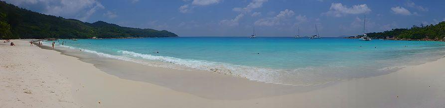 Anse Lazio panoramique Praslin, Seychelles