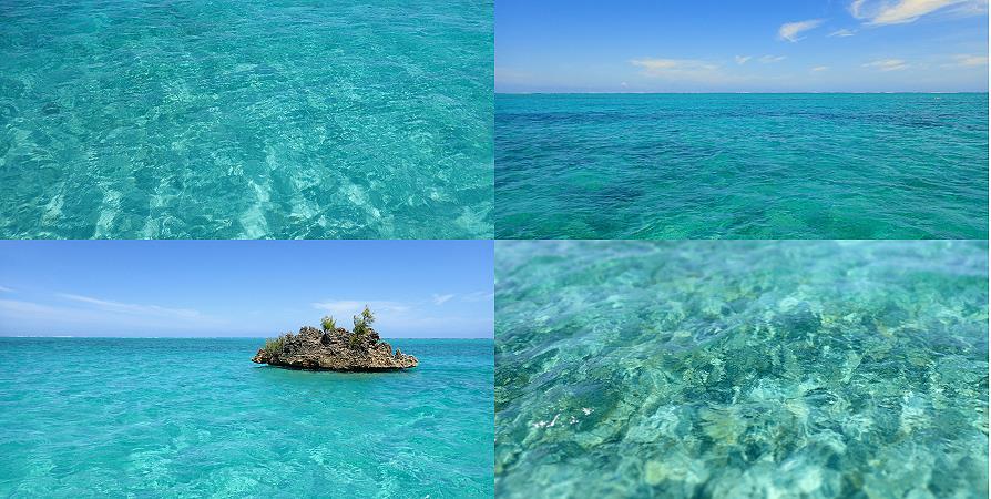 Le lagon de l'île aux bénitiers à Maurice