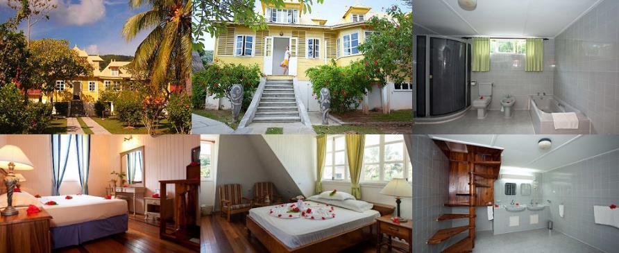 Maisons jaunes, Lodge Resort, La Digue, Seychelles