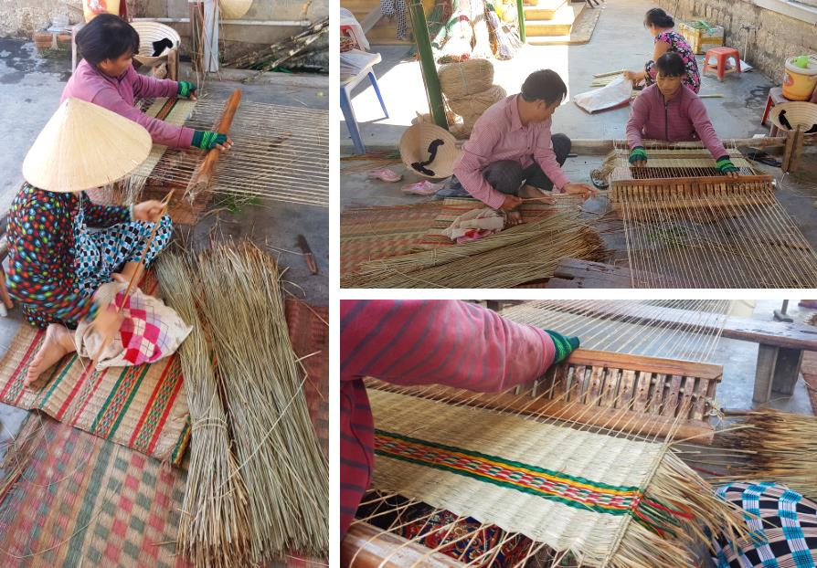 Nattes de joncs artisanat du Vietnam Nha Trang