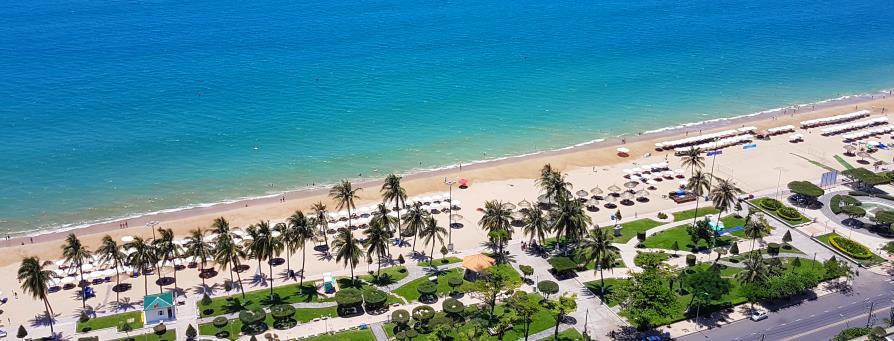 Nha Trang plage Vietnam vue aérienne