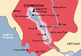 Carte du Paludisme au Cambodge pour Siem Reap, Angkor et Tonle Sap