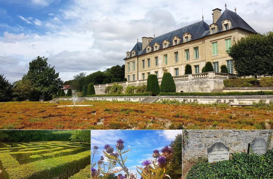 Château Auvers-sur-Oise, tombe de Van Gogh, Val-d'Oise