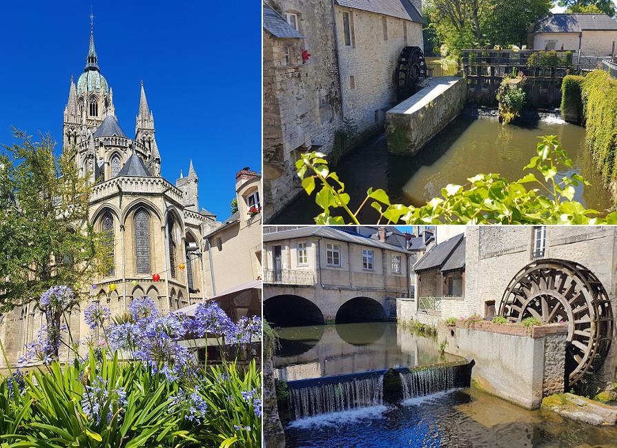 Bayeux, Cathédrale et roue à eau
