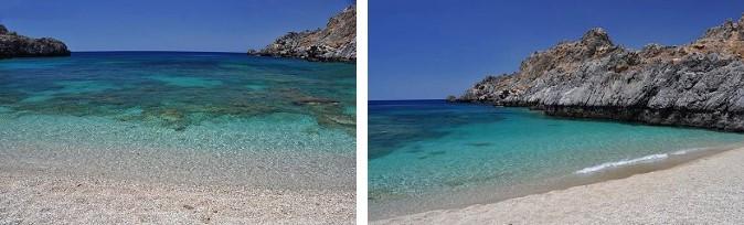 Plage de Shinaria en Crète