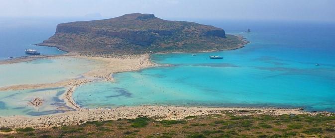 plage de Balos Gramvoussa en Crète