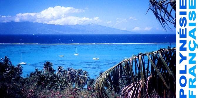 Lagon de Moorea et sa barrière de corail
