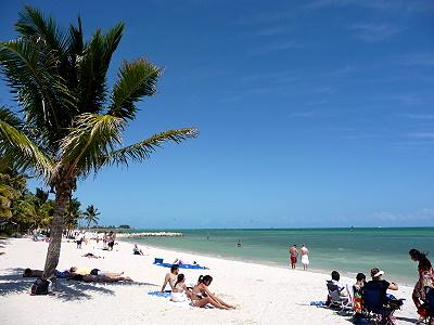 Plage de Smathers beach Keywest - Floride USA