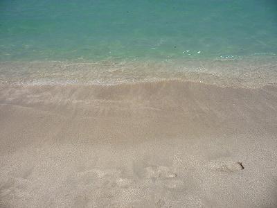 Océan atlantique à Miami, couleur de l'eau - South beach Floride USA