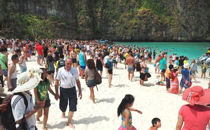 plage de Maya Bay à Koh Phi Phi en Thaïlande