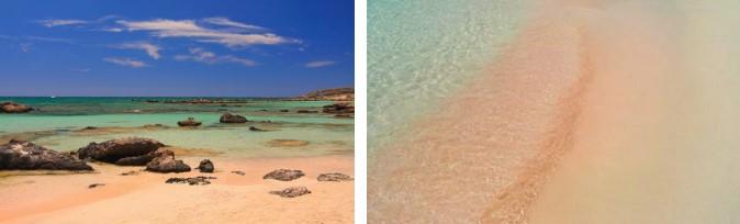 plage d'Elafonissi en Crète